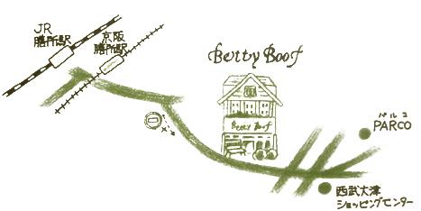 ベティ・ブーフ本店地図